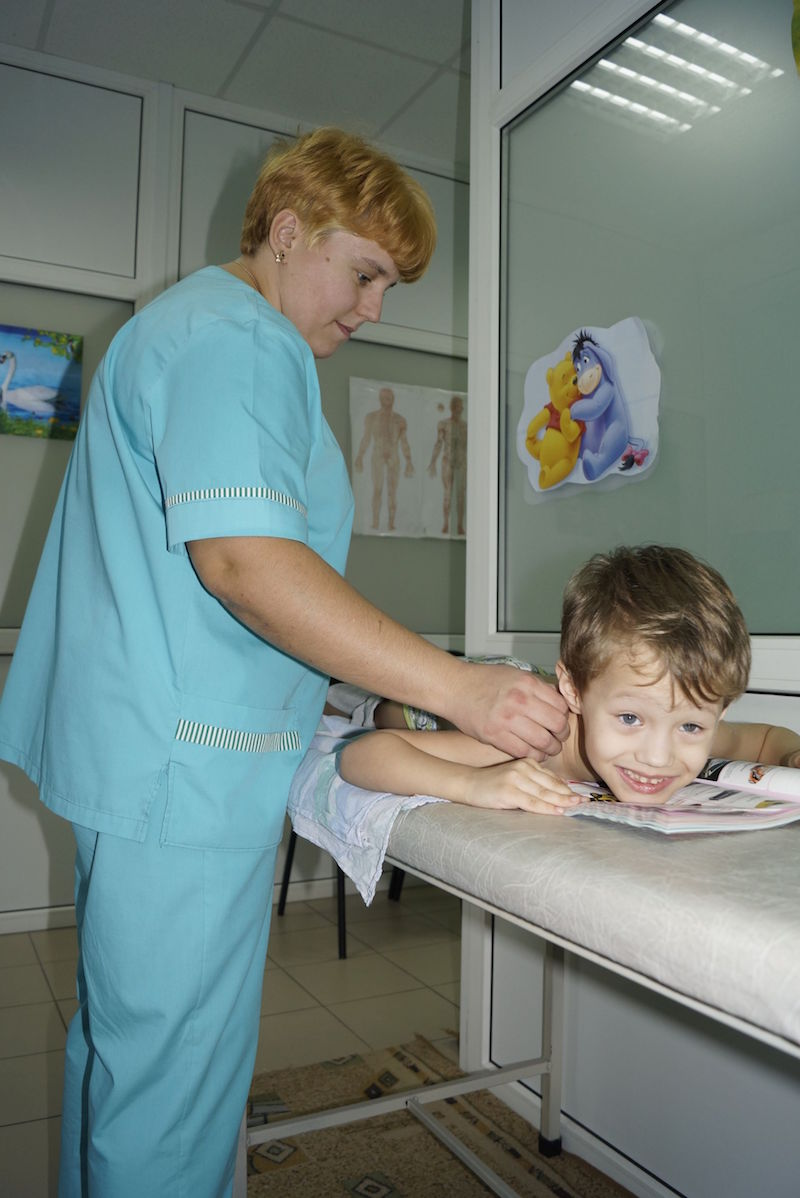 Урок массажа ребёнку